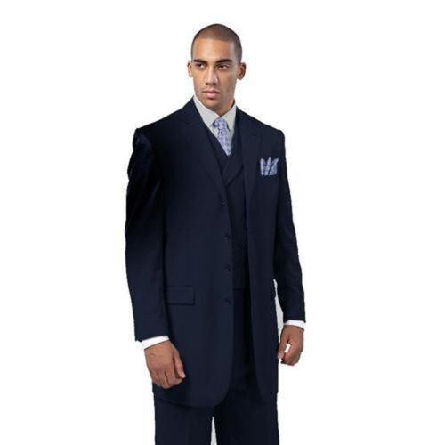 Men/'s Wool Feel suit Jacket With Fancy Vest four button  by Milano Moda 5263V