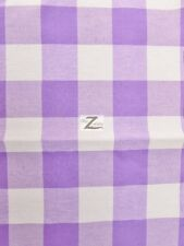 """CHECKERED GINGHAM POLY COTTON PRINTED FABRIC - Lavender - 57""""/59"""" WIDTH SOLD BTY"""