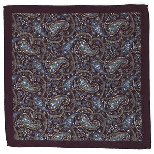New-Hand-Rolled-Wool-Paisley-Pocket-Square-Suit-Handkerchief-Three-Colors-A-Set
