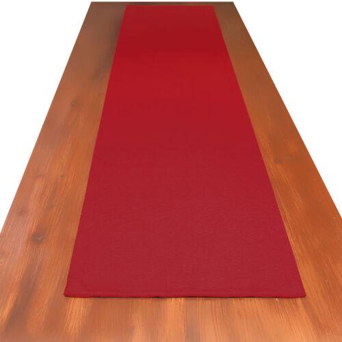 Tischläufer Landhaus-Tischdecke Hetty Rot uni 40 x 160 cm