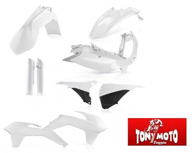 FULL KIT ACERBIS PLASTICHE CARENA KTM EXC EXC-F 2014 2015 BIANCO