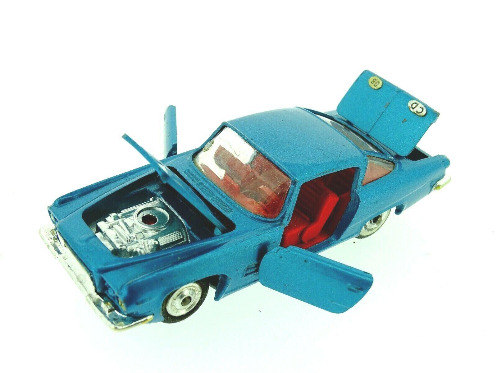 Vintage Corgi 241 Ghia L6.4 Chrysler Engine Blau In Original box VGC