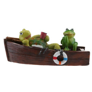 Water-Floating-Canoe-Turtle-Frog-Statue-Fun-Bathtub-Toy-Animal-Pond-Decor-9