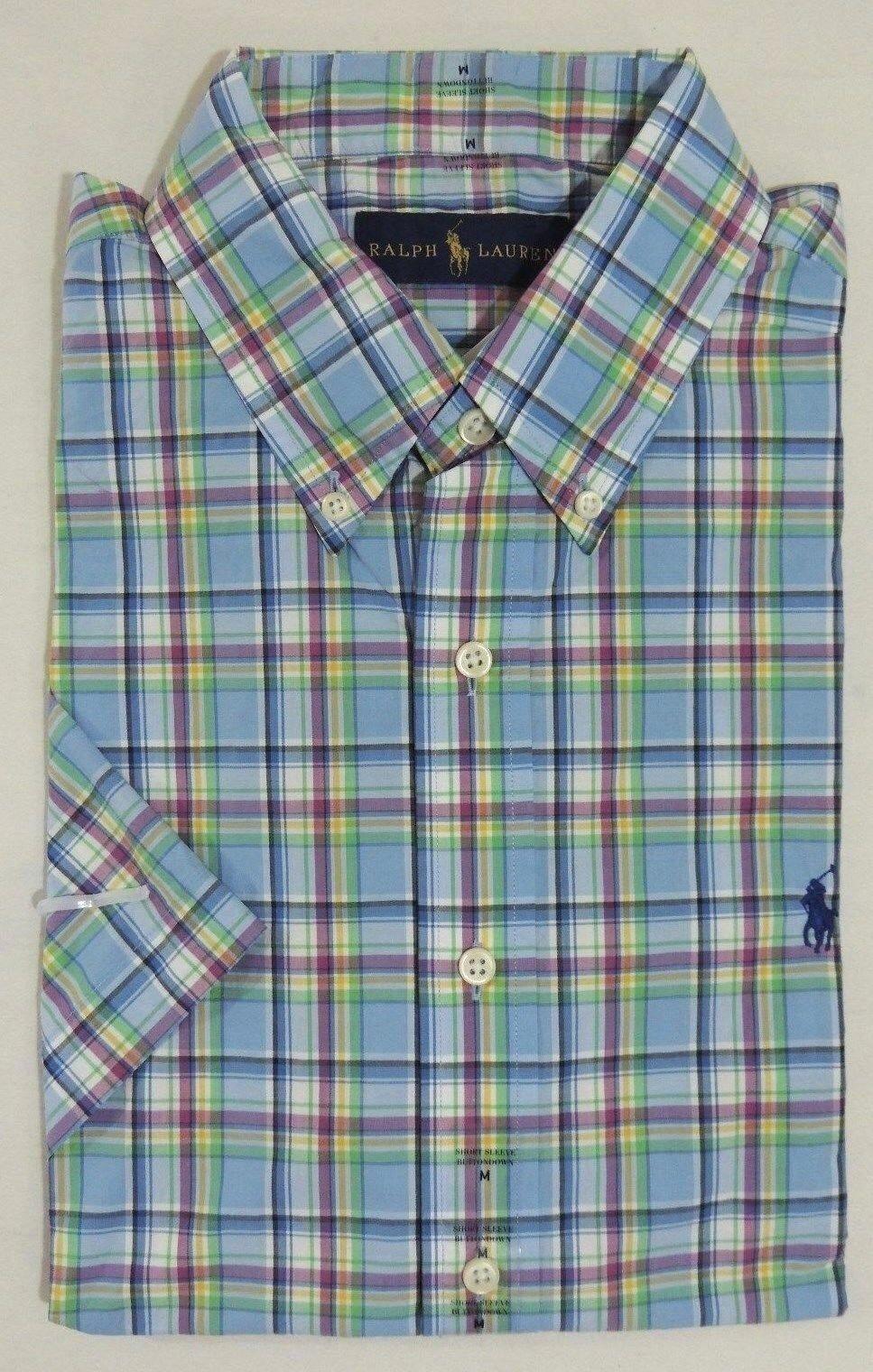 93ac3c46 Polo Ralph Lauren Mens Shirt Classic Fit Button Down Woven S Blue ...