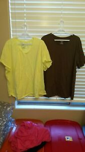 Nice-lot-of-women-039-s-plus-size-t-shirts-yellow-and-brown-two-in-the-lot