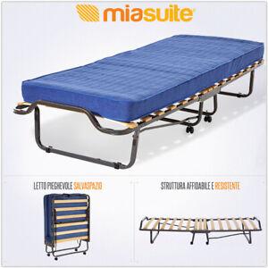 Brandina letto trasformabile pieghevole per ospiti rete e for Materasso per ospiti