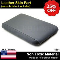 Leather Center Console Lid Armrest Cover Fits For Ford Ranger 1998-2004 Gray