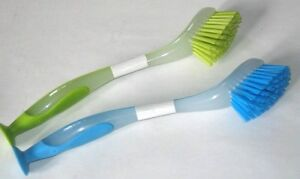 2-New-DISHWASHING-BRUSHES-IKEA-Dish-Washing-green-red-blue-Plastic-scrub