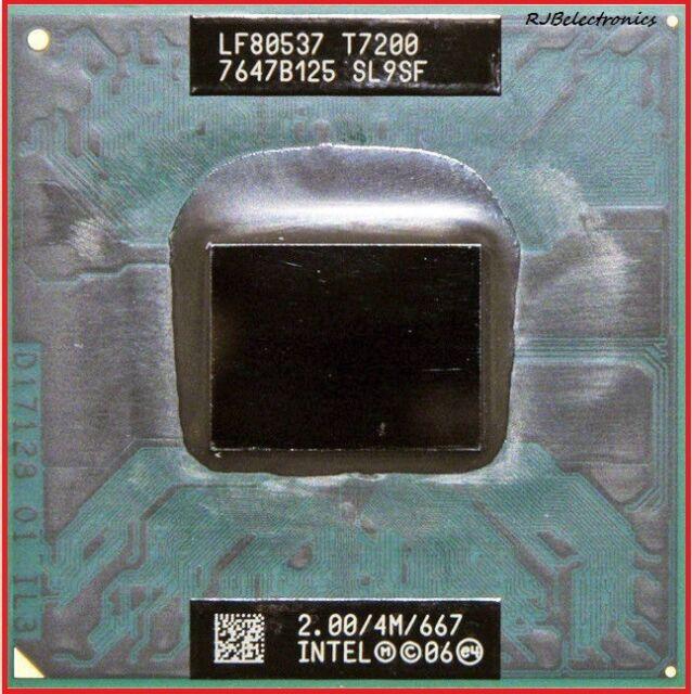 Intel Core 2 Duo T7200 2.0GHz 4MB 667MHz Mobile CPU Processor SL9SF Socket M 34W