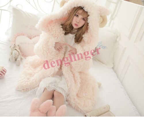 Women Fur Winter Jacket Lolita Lamb Coat Snow Warm Sweet Fashion Warm new size
