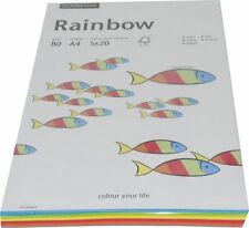 5x20 Blatt Papyrus Multifuntkionspapier Rainbow A4 80g farbig Mix Kopierpapier