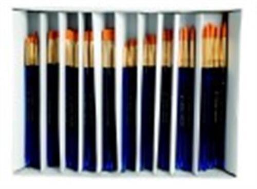 Assorted Blue Pack 120 Royal Brush Waterproof Taklon Brush Super Value Pack