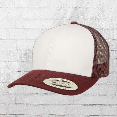 Yupoong Retro Trucker Cap Uni//One Size Rot Weiß