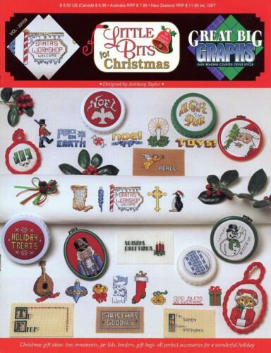 Little Bits For Christmas Cross Stitch Pattern Leaflet NEW Great Big Graphs