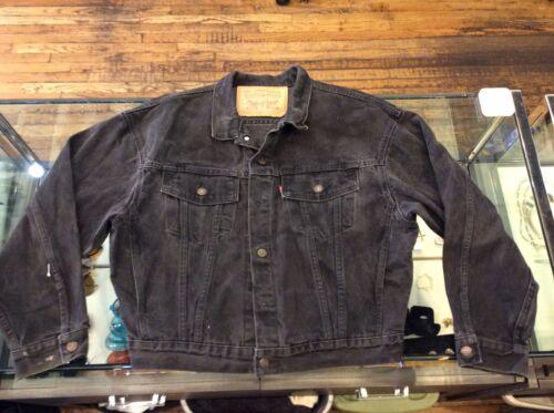 vintage black levis denim jacket