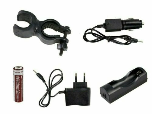 Military Tactical Torch LED t6 100000 Lumens 80000w Rechargeable Zoom Bike Light