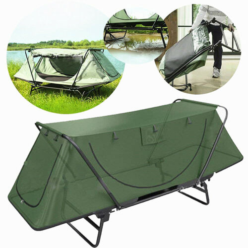 1-2person Foldable Camping Tent Picnic Outdoor Hiking Bed cot w//Sleeping Bag Air