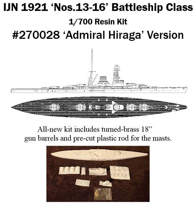 1   700 ijn 13 - 16 fue eliminado por IHP de la cubierta de resina de guerra 1921.