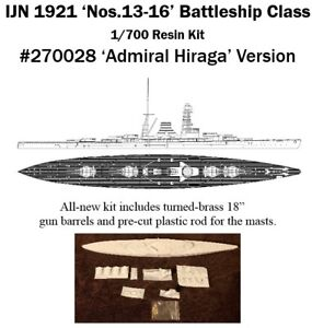 1-700-IJN-No-13-16-Cancelled-1921-Battleship-Resin-Kit-by-IHP