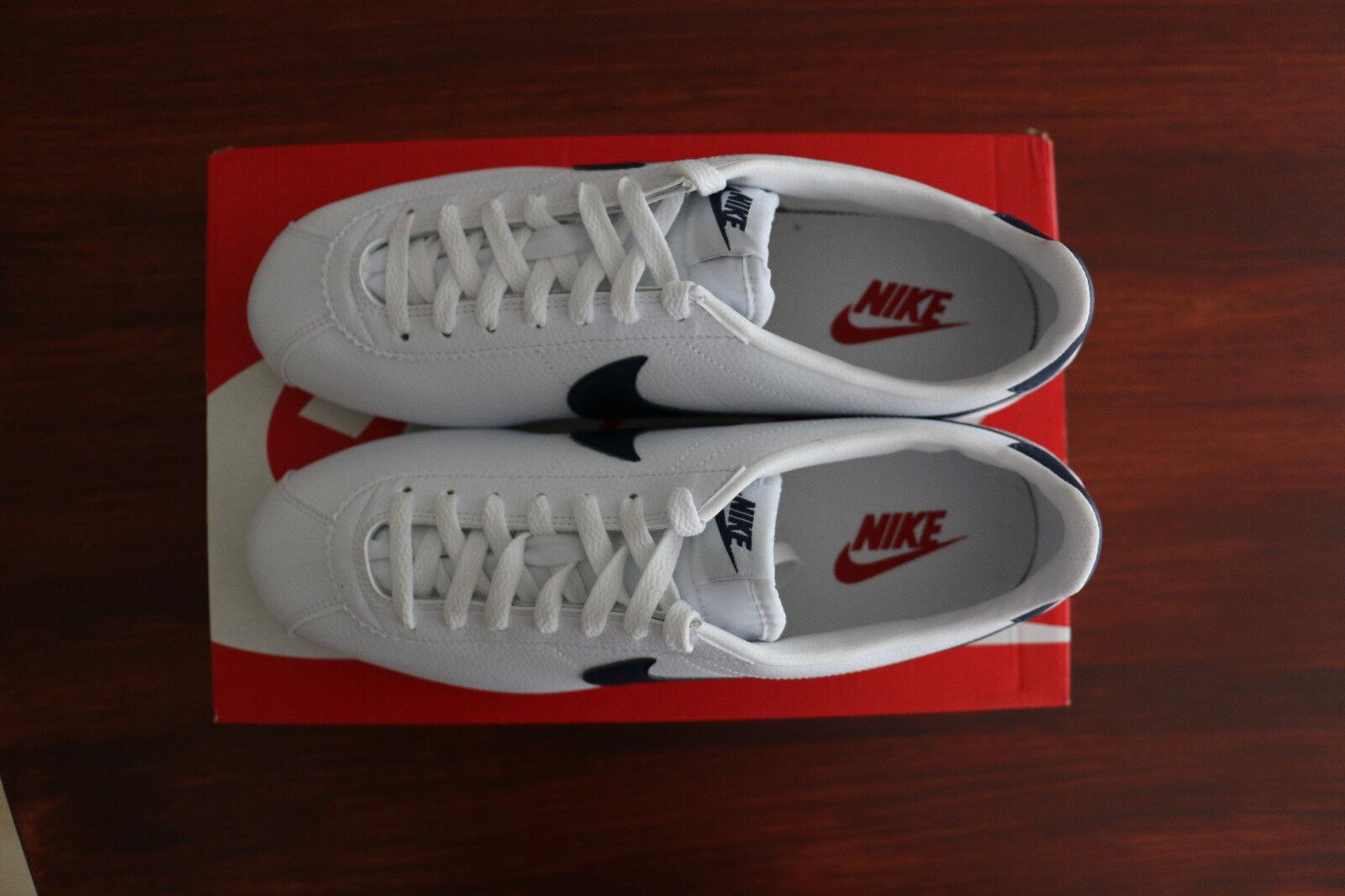 Nike Cortez Classic Leder Weiß/Midnight Navy/Gym ROT