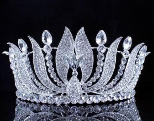 Phoenix Austrian Crystal Rhinestone Tiara Crown W// Hair Comb Prom Pageant T15