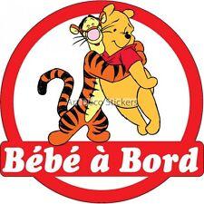 Sticker autocollant enfant Bébé à bord Winnie réf 3571 3571