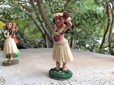 """Dashboard Aloha Doll Hula Girl Polyresin 4/"""" Tall Hawaiian Car Dance New # 40818"""