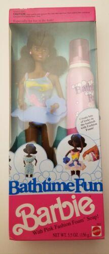 "- Mattel Vintage 1990 African American BARBIE /""Bathtime Fun/"" Brand New"