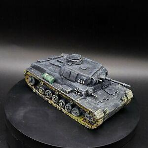 Dipinto 28mm BOLT ACTION Tedesco Panzer III #2 (handmade) PERFETTO PER GIOCHI DI GUERRA ww2