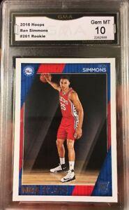 Ben-Simmons-Rookie-Card-NBA-Hoops-2016-Gem-Mint-10-ROY-RC-76ers-All-Star