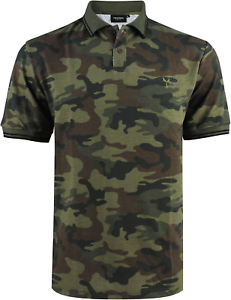 Polo-homme-col-sport-manches-courtes-Yves-Enzo-camouflage-army-kaki