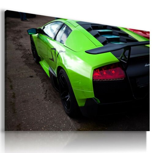 LAMBORGHINI MURCIELAGO GREEN  Sports Car Wall Art Canvas Picture  AU712 MATAGA .