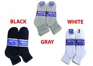 Diabetic ANKLE Socks Health Men's & Women's Cotton ALL SIZE Up to 13-15