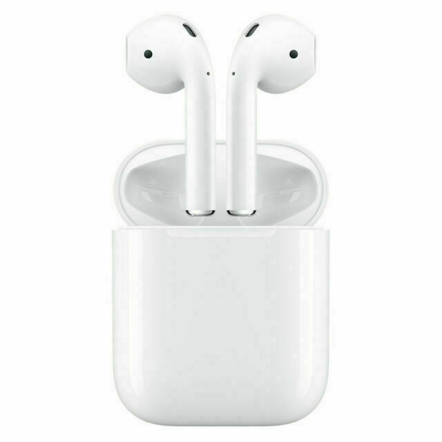 Apple Airpods White In Ear Canal Headset With Charging Case For Sale Online Ebay