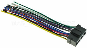 wire harness for sony xav 601bt xav601bt xav 64bt xav64bt ships image is loading wire harness for sony xav 601bt xav601bt xav