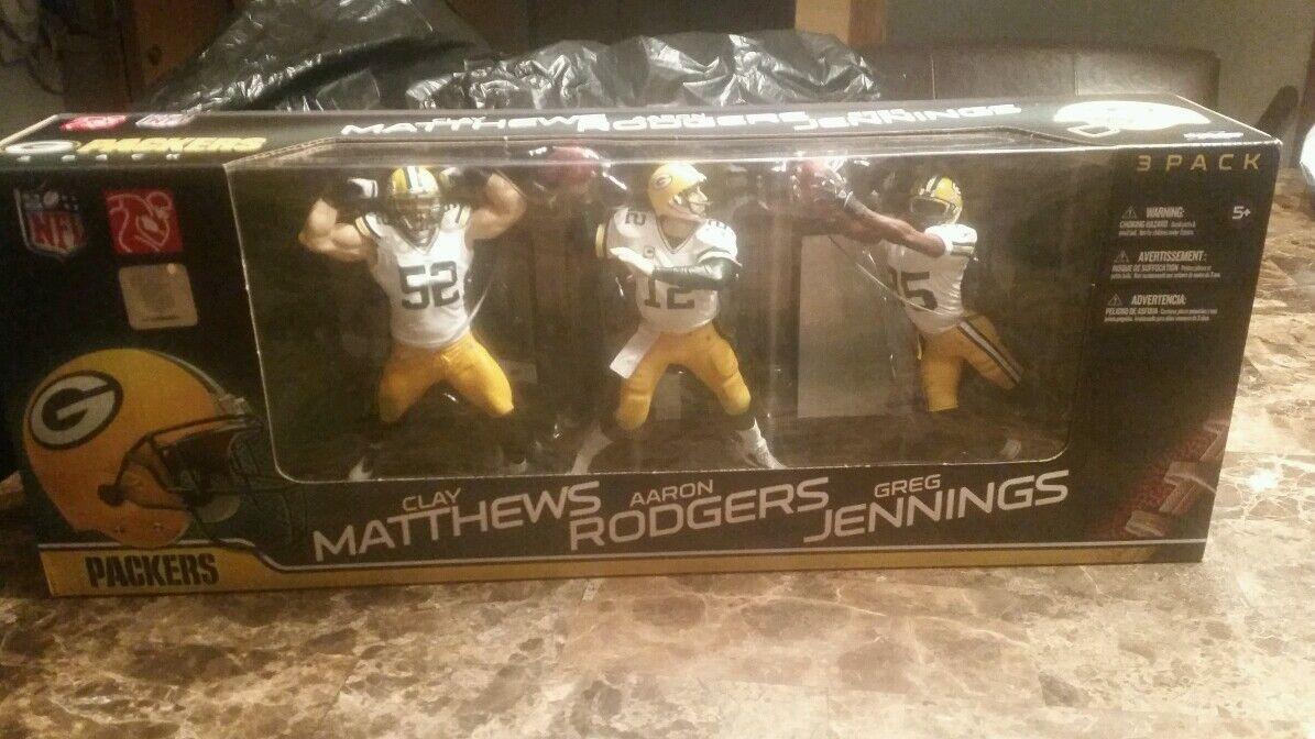 garantizado Packers Matthews Rodgers Jennings 2011 sellado de fábrica 3 3 3 Figuras Mcfarlane Nfl  ventas en linea