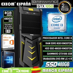 Ordenador-Gaming-Pc-Intel-i3-8GB-SSD-480GB-GTX1050-2Gb-Wifi-Sobremesa-Windows-10