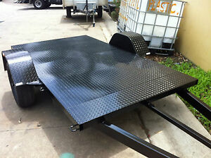 Brand-new-Trailer-quad-bike-9X5-FT-HEAVY-DUTY-CHEQUER-PLATE-flat-bed-atv-buggy