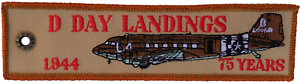 D-Day-Landings-1944-75-Years-Double-Sided-Embroidered-Cloth-Keyring