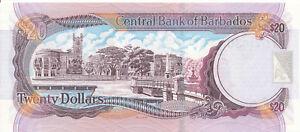 Barbados-20-dollars-2007-UNC-Pick-69