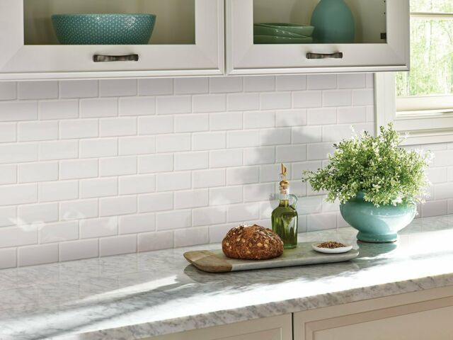 Snow Subway Tile 2 X 4 Brick Joint Mosaic Backsplash Wall Floor Decor 10 Sheets