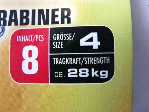 Tönnchenwirbel mit Spezialkarabiner Behr Gr 4 oder 6 schwarz hohe Tragkraft