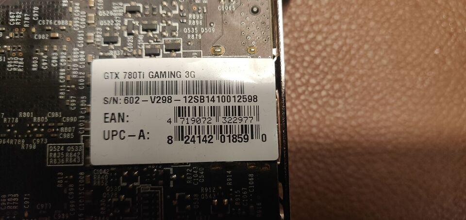 GeForce GTX 780 ti MSI, 3 GB RAM, Perfekt