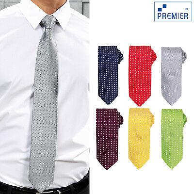 Premier Quadrati Tie (pr788) - Business Lavoro Aziendale Classico Cravatta Uniforme-mostra Il Titolo Originale
