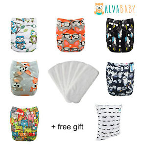Baby Washable Reusable Pocket Nappy  Covers Liner Insert With Free Insert
