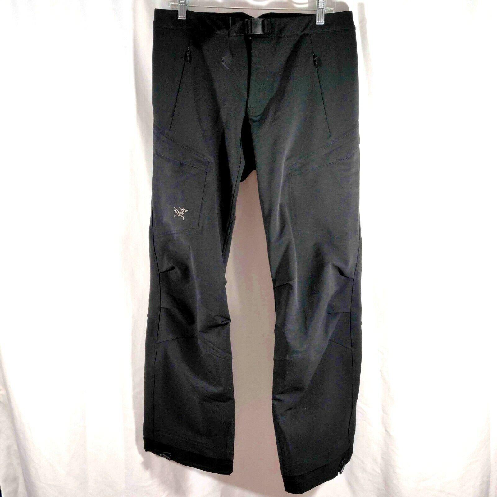 ARC'TERYX Womannens Snowboard Skipants 12 Reg GoreTex Lined Pockets Belted Groot
