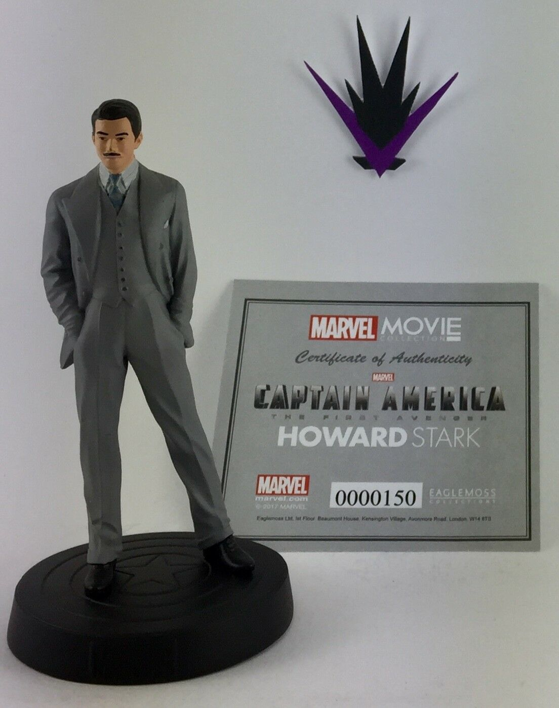 Figurine Stark Marvel Eaglemoss Movie Collection 39 Howard Stark Figurine box & fascicle ba082e