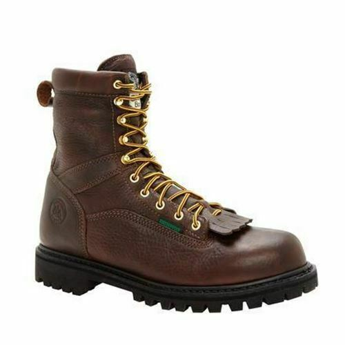 Georgia Me's Lace-to-Toe Steel Toe Waterproof Work Boots Brown G8341