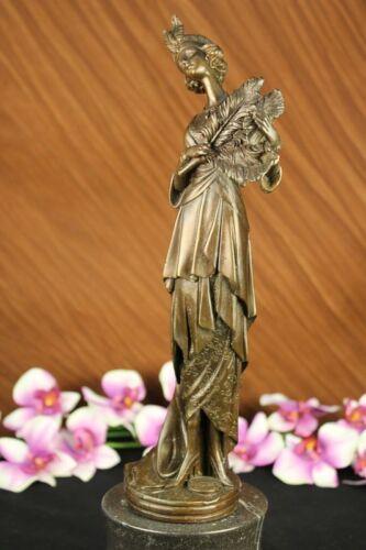 Beautiful Art Deco bronze lady woman dancer sculpture nouveau decor Free SHIPP!!