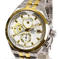 Casio Edifice EF556SG-7A Mens Gold Tone Stainless Steel Chronograph Dress Watch